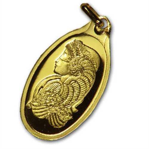 1 gram fortuna oval shaped pamp suisse gold pendant aloadofball Images