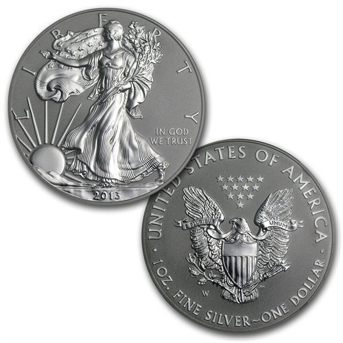 2013 (2 Coin) American Silver Eagle West Point Set (w/B