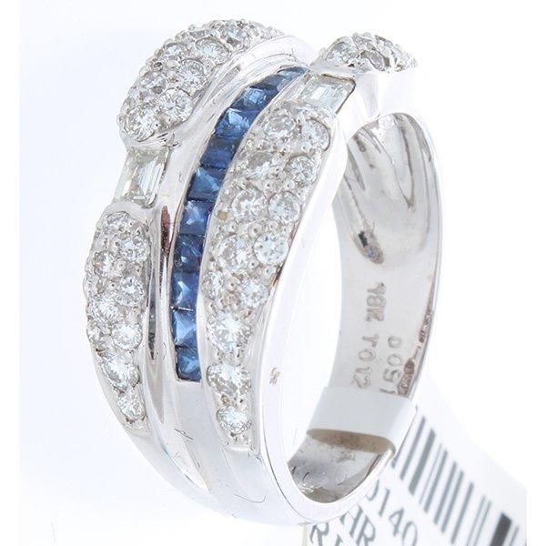 18K White Gold 1.48ctw Sapphire & Diamond Ring