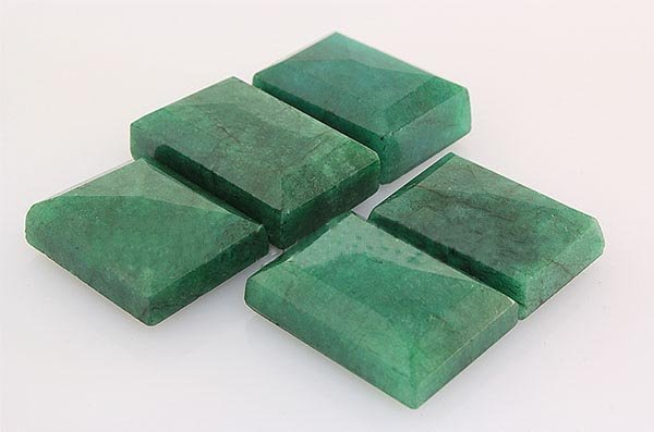 174.84ctw Faceted Loose Emerald Beryl Gemstone Lot of 5