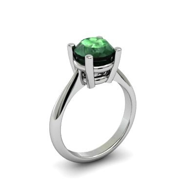 Emerald 2.50ctw Ring 14kt White Gold