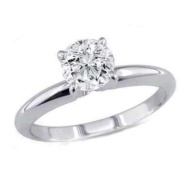 0.75 ct Round cut Diamond Solitaire Ring, I-J, SI2