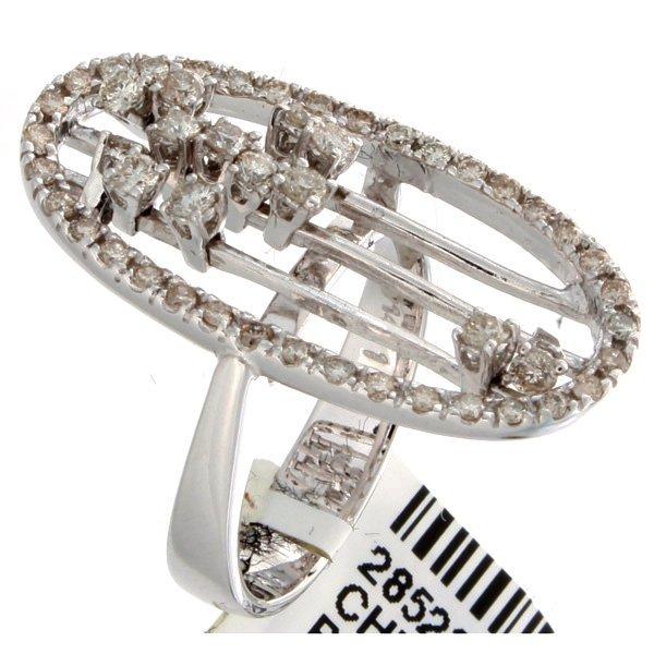 14K White Gold 0.82ctw Diamond Ring