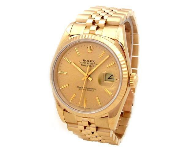 36mm Rolex 18k Yellow Gold Oyster Perpetual Datejust Wa
