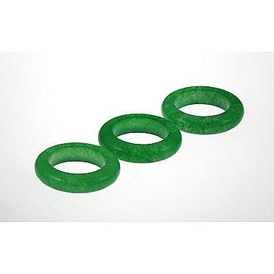 Natural Simple Green Jade 34.53ctw Band Ring Lot of 3