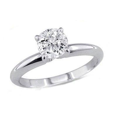 0.60 ct Round cut Diamond Solitaire Ring, G-H,I1-I2