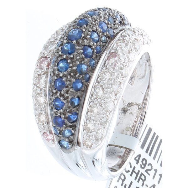 14K White Gold 2.11ctw Sapphire & Diamond Ring