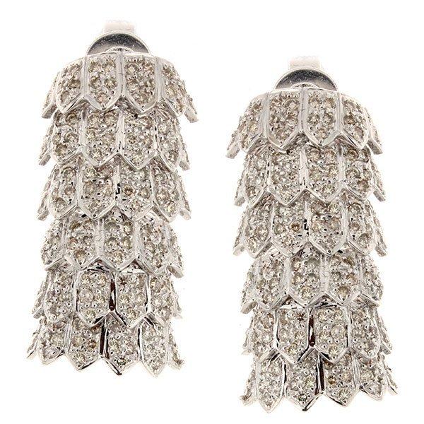 14K White Gold 1.69ctw Diamond Earrings