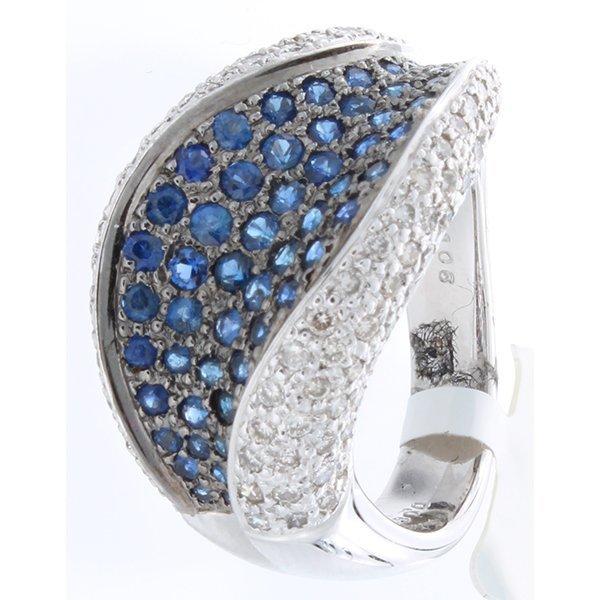 14K White Gold 1.93ctw Sapphire & Diamond Ring