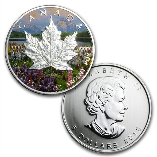 2013 Silver Canadian Maple Leaf 4-Coin Set- Four Season