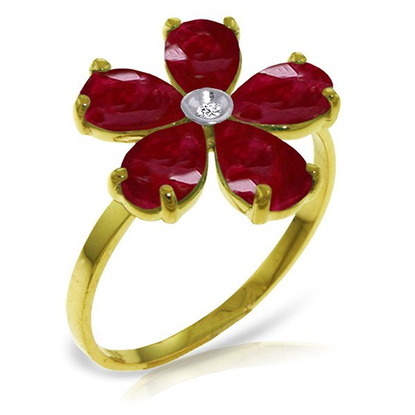 New 14KT Yellow Gold 2.22 ctw Ruby & Diamond Ring