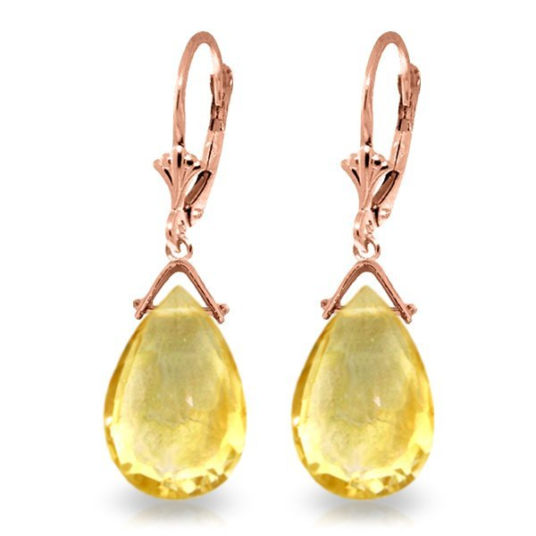 New 14KT Rose Gold 10.2 ctw Citrine Earrings