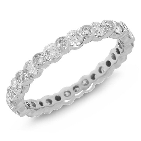 New 18KT White Gold 1.12 ctw Diamond Eternity Ring