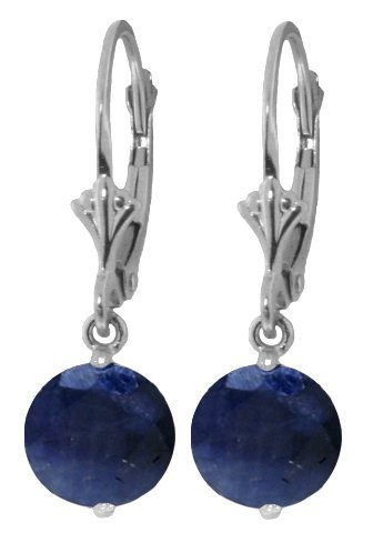 New 14KT White Gold 3.3 ctw Sapphire Earrings
