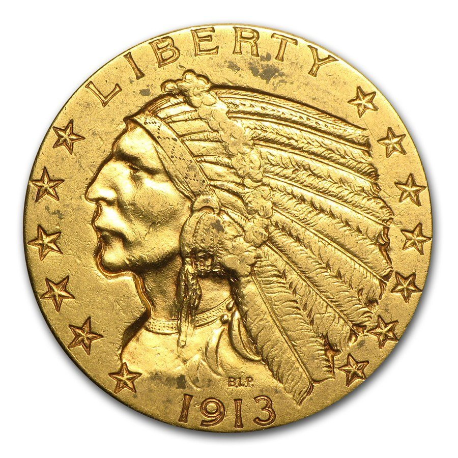 Circulated $5 Indian Gold Half Eagle (Random Years)