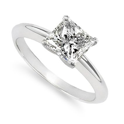 EGL Certified 0.73ct Princess Diamond (H-VS1) 18KT