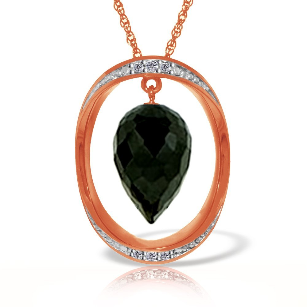 New 14KT Rose Gold 12.35 ctw Black Spinel & Diamond