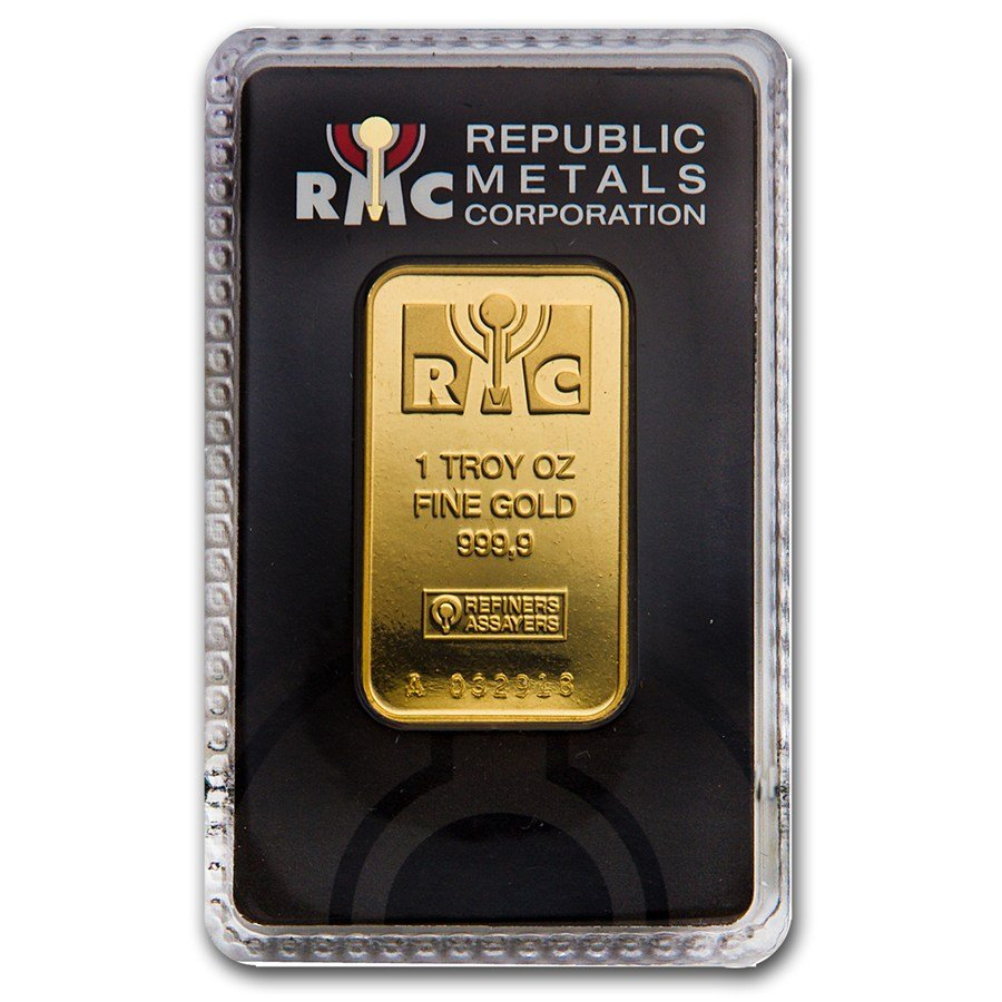 Fine Gold Bar 1 ounce - Republic Metals Corporation (In