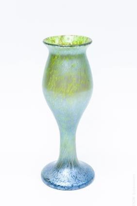 Bohemian Art Glass Tulip Vase.