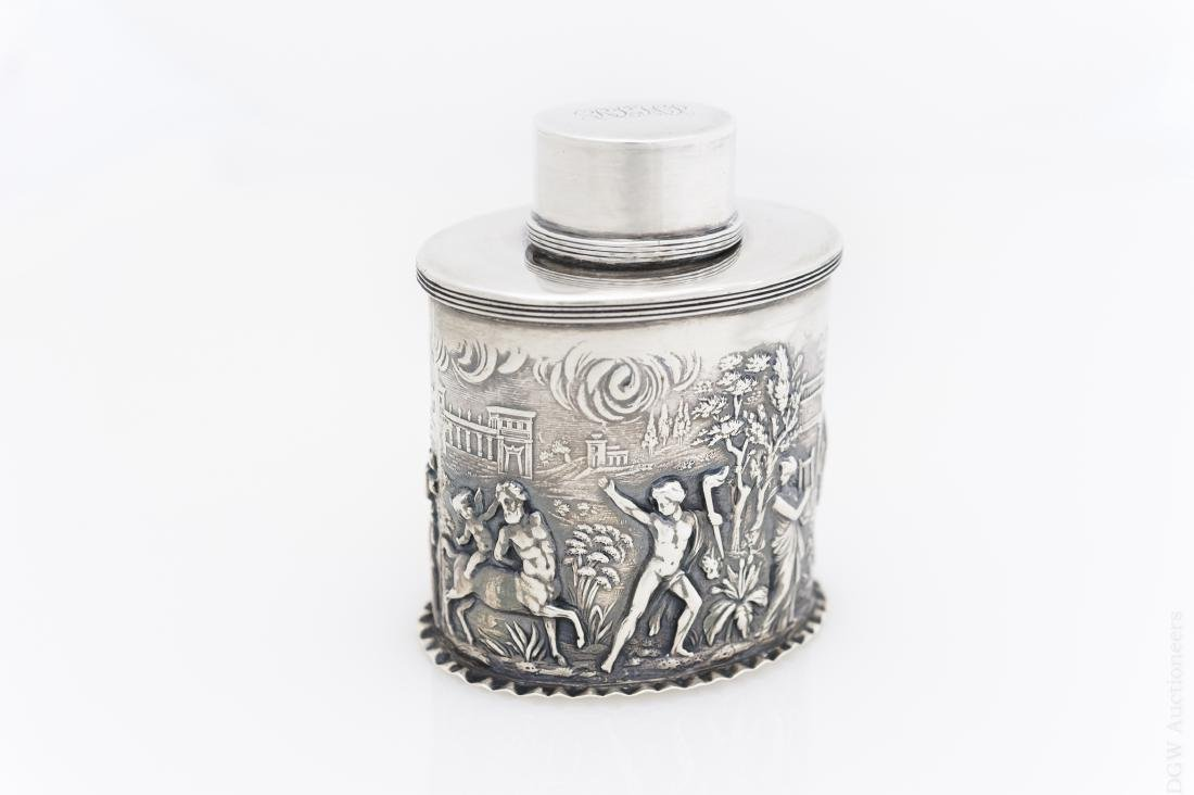 English Sterling Silver Tea Caddy.