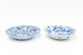 Two Chinese Blue and White Dishes.