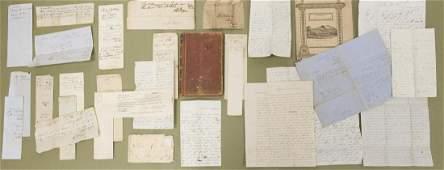 Collection of Pre Civil War Era Letters & Ephemera.