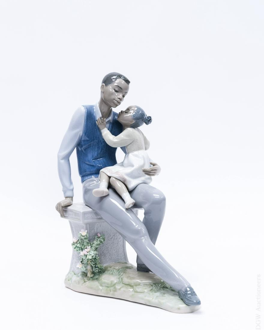 "Lladro Porcelain, ""Daddy's Little Sweetheart""."