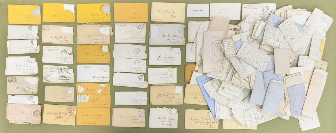 Large Collection of Civil War & Pre Civil War letters.