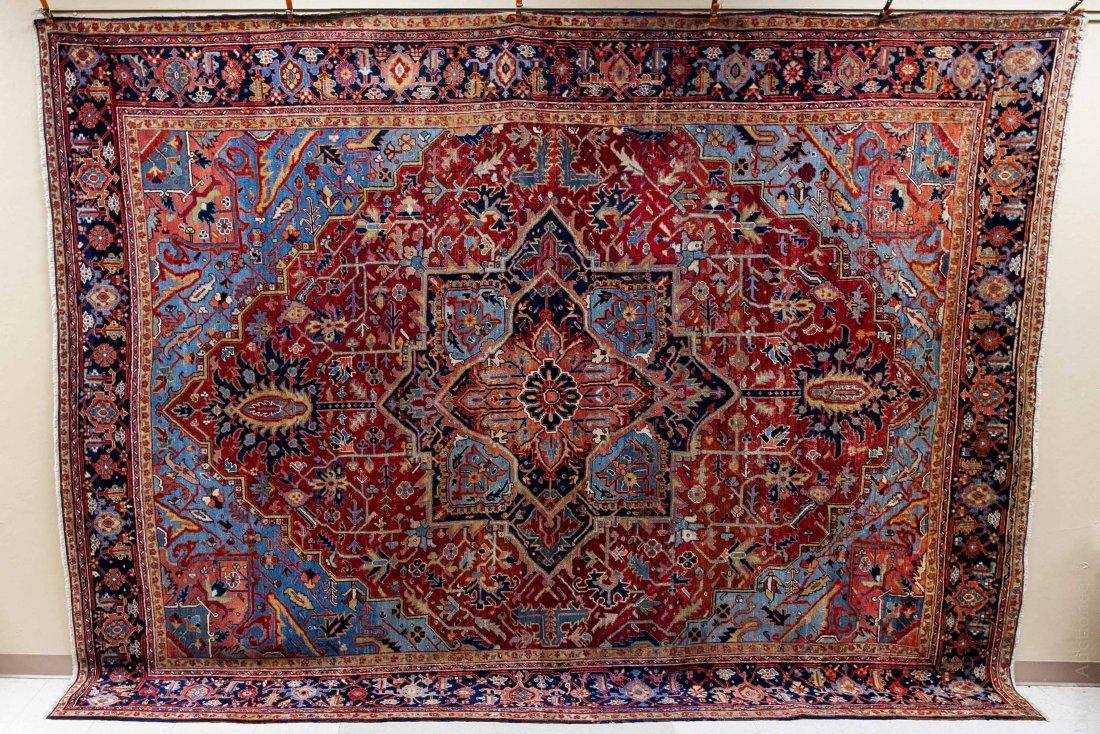 Persian Heriz Serapi Rug.