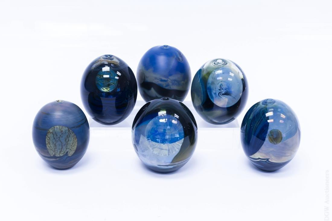 (6) John Lewis Moon Bottle Vases.