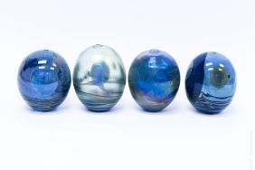 (4) John Lewis Moon Bottle Vases.