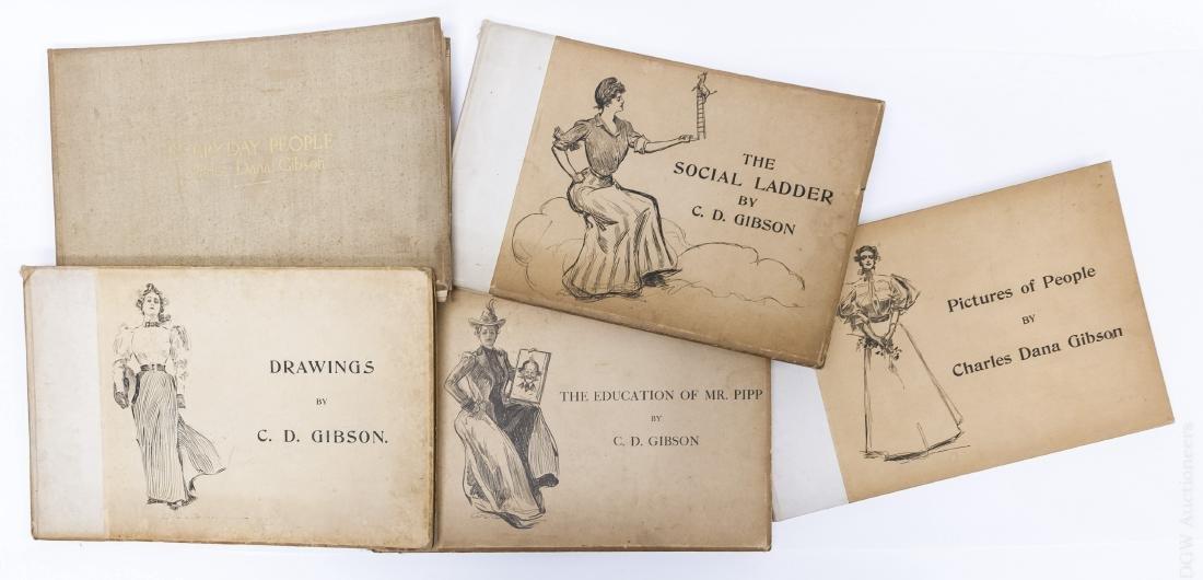 (5) Illustrated Volumes, Charles Dana Gibson.