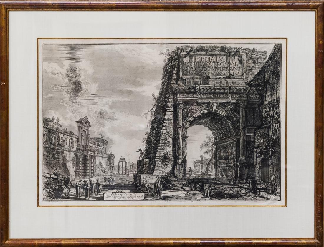 Piranesi Engraving, Veduta Dell Arco de Tito.