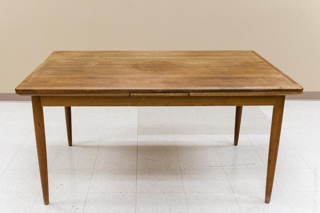 Teak Draw Leaf Table w/ 12 Danish Teak Chairs. - 2