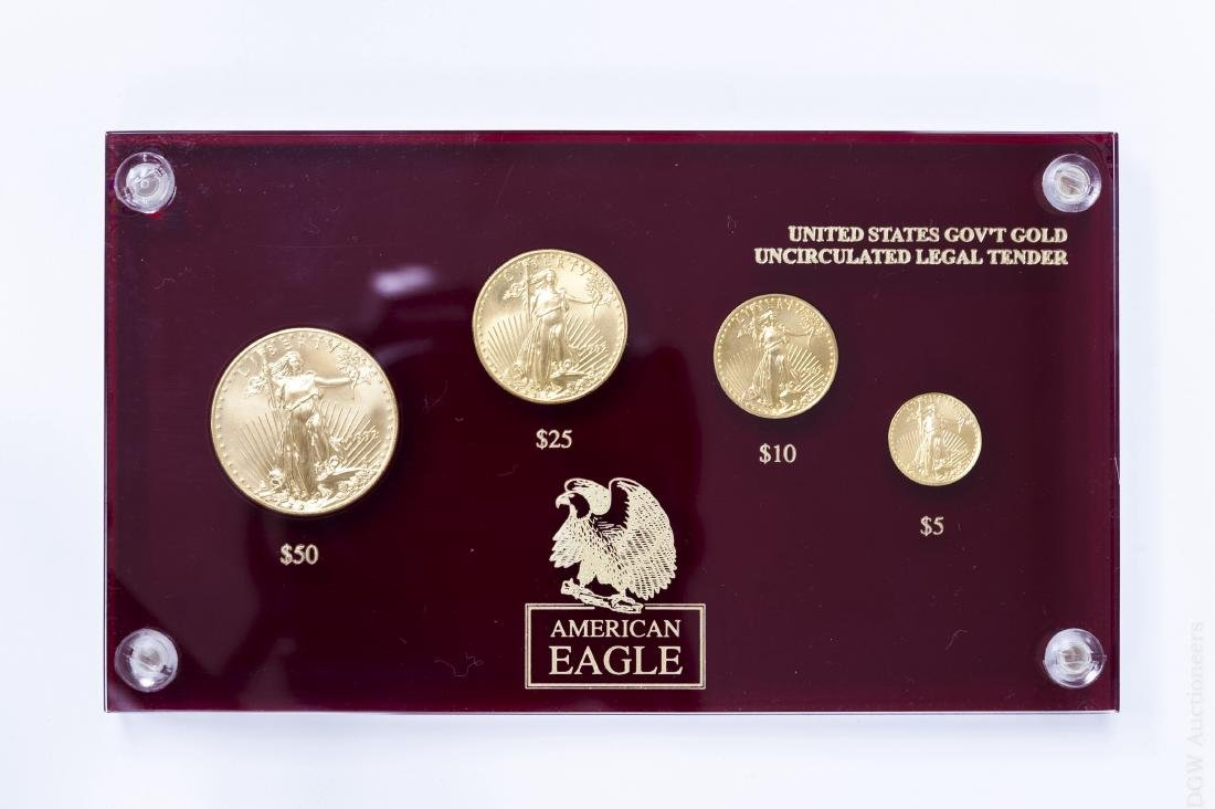 1992 American Eagle Gold 4-coin Set.