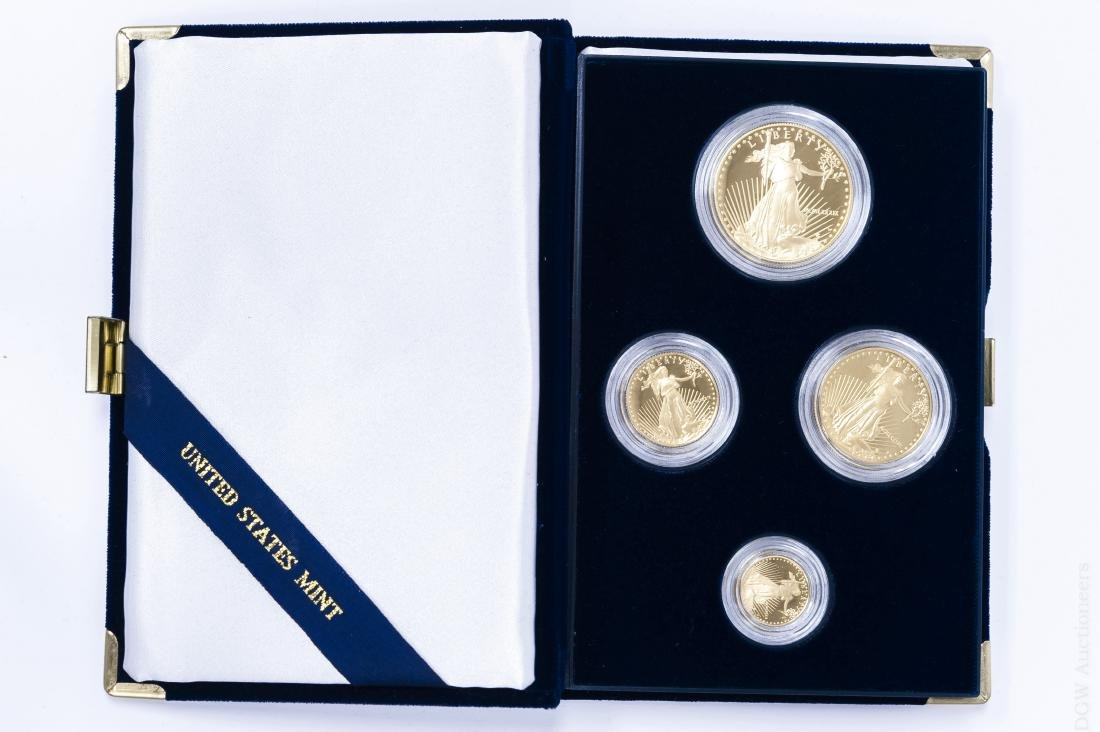 1986 American Eagle Gold Proof 4-coin Set.