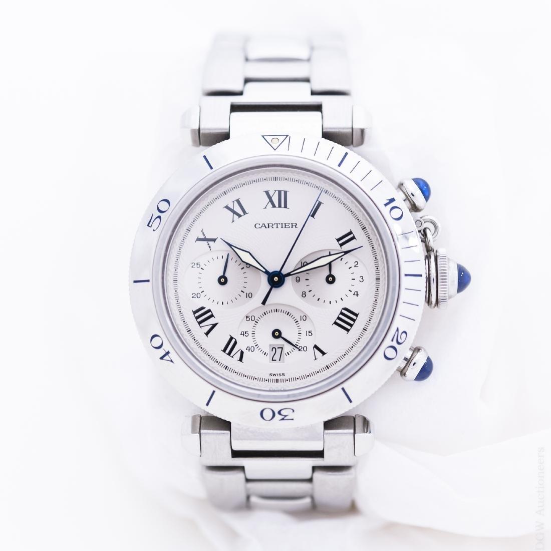 Cartier Model 1050 Quartz Chronograph.