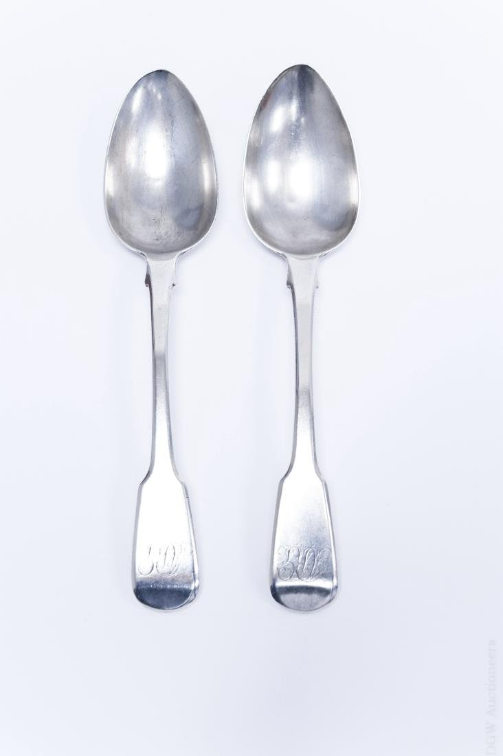 (2) Early 19th C. English Silver Serving Spoons.