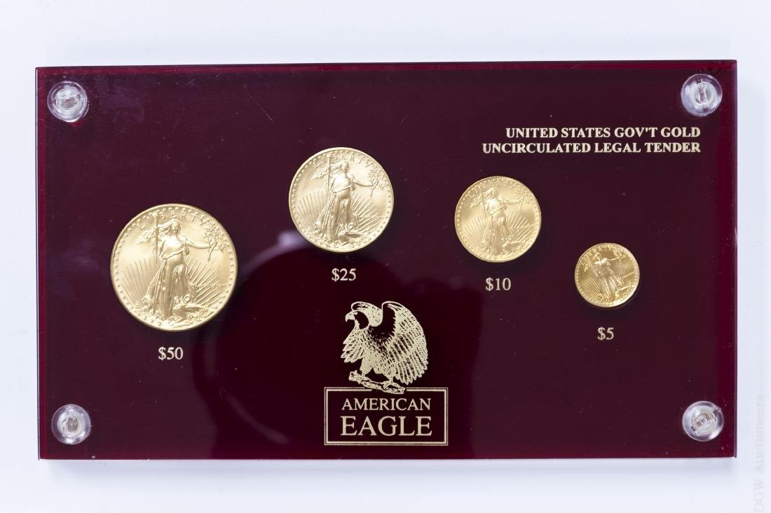 1986 American Eagle Gold 4-coin Set.