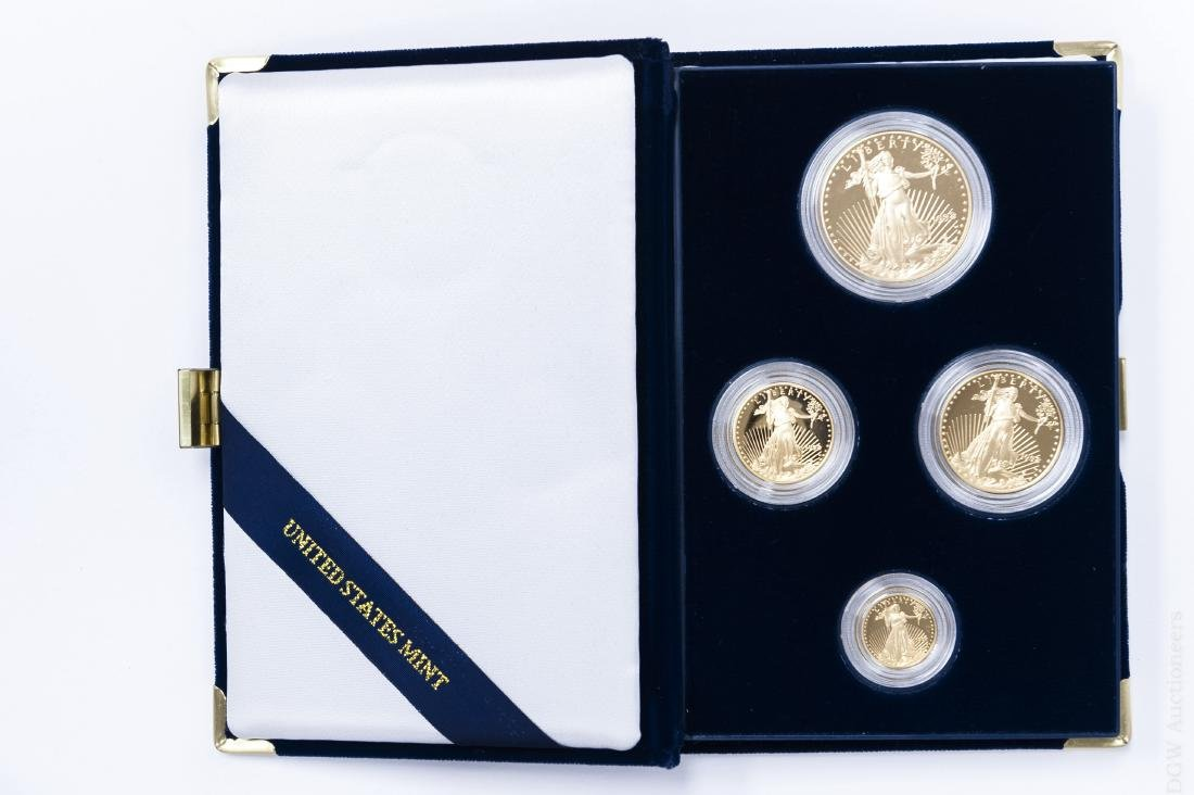 1998-W American Eagle Gold Proof 4-coin Set.