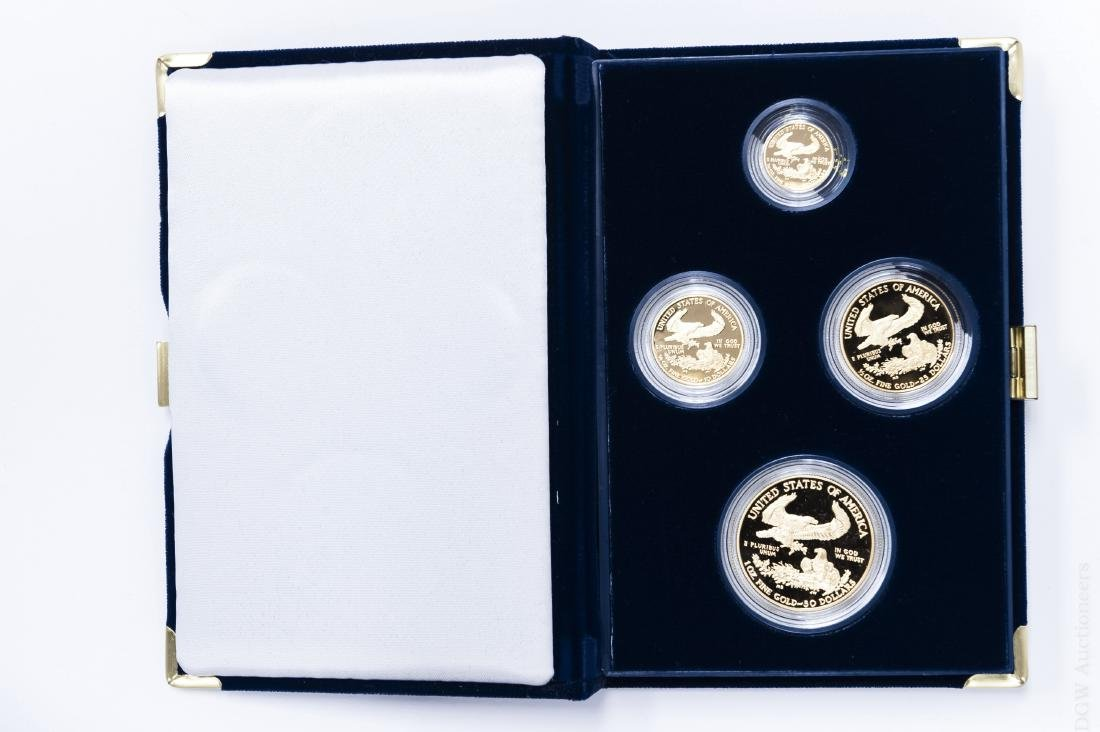 1998-W American Eagle Gold Proof 4-coin Set. - 2