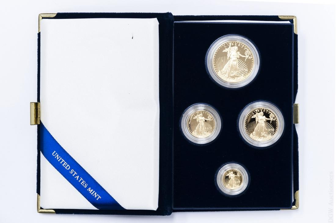 2002-W American Eagle Gold Proof 4-coin Set.
