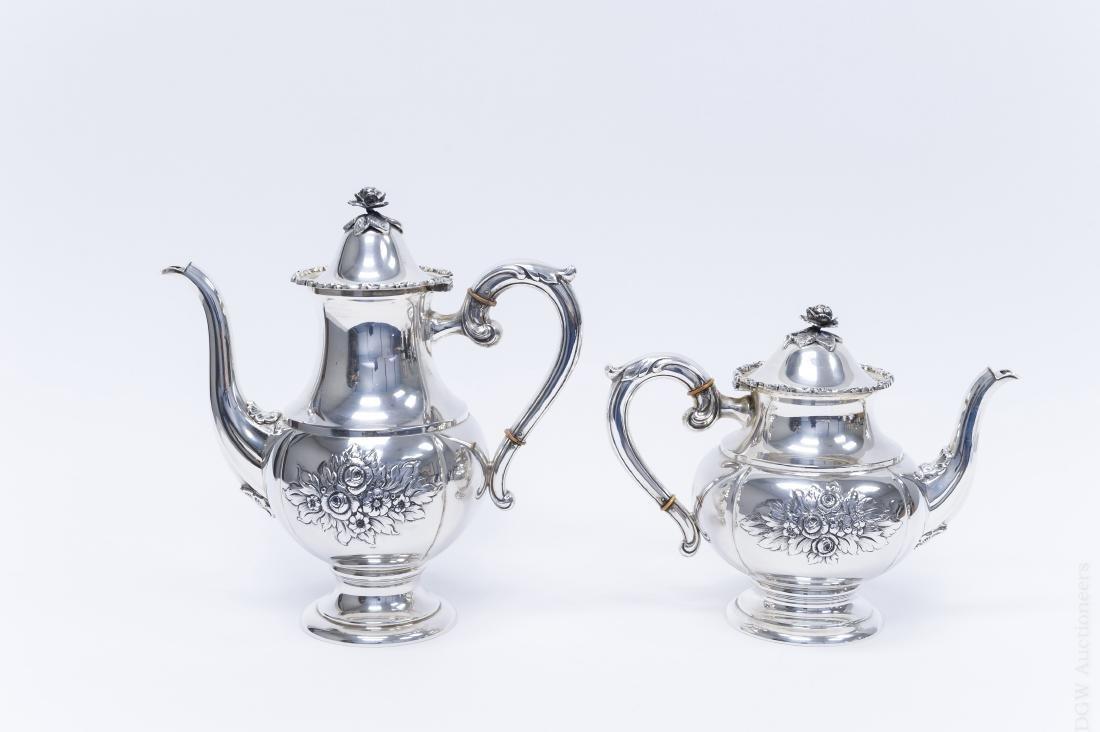 German Sterling Silver Coffee & Tea Set. - 3