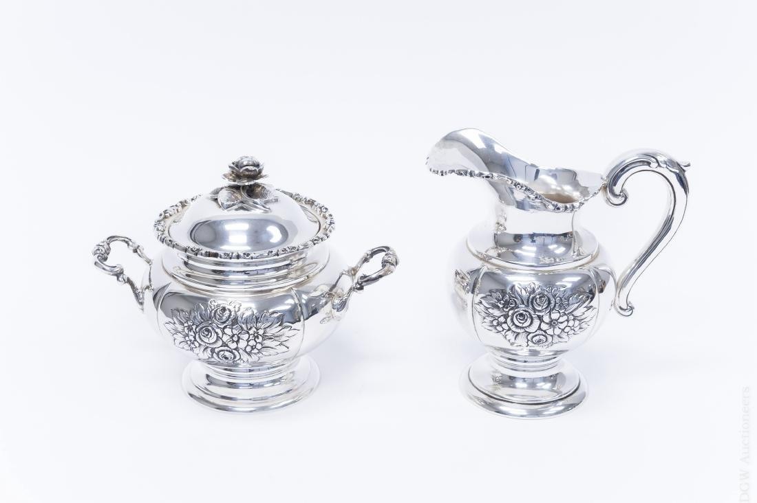 German Sterling Silver Coffee & Tea Set. - 5