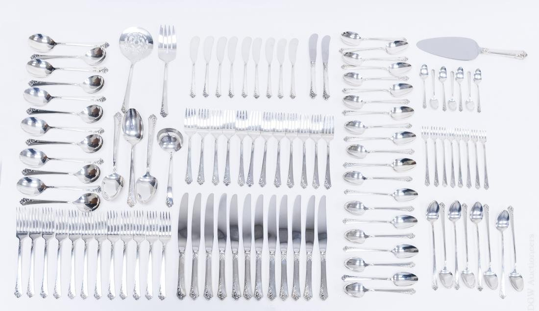 "Heirloom Sterling Silver Flatware, ""Damask Rose""."
