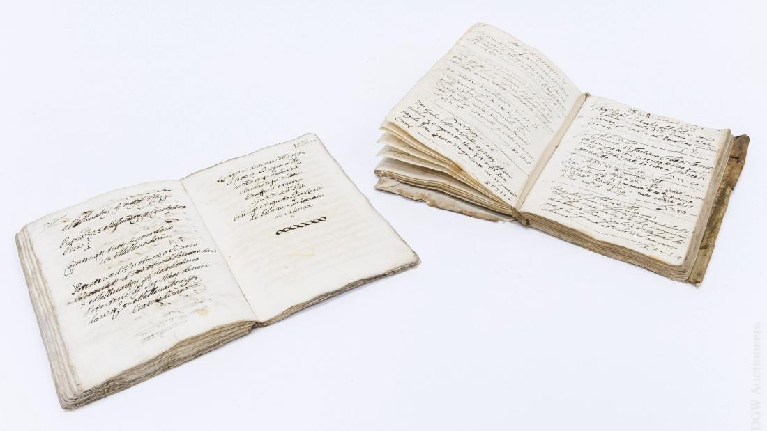 (2) Early 17th Century Italian Books.