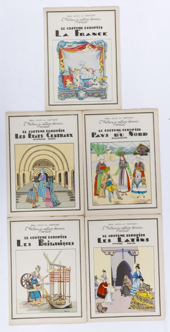 (16) Paul Louis de Giafferi Costume Books. - 2