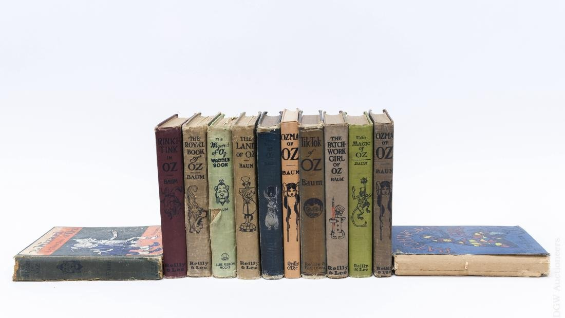 (12) Frank L. Baum Oz Series Books.