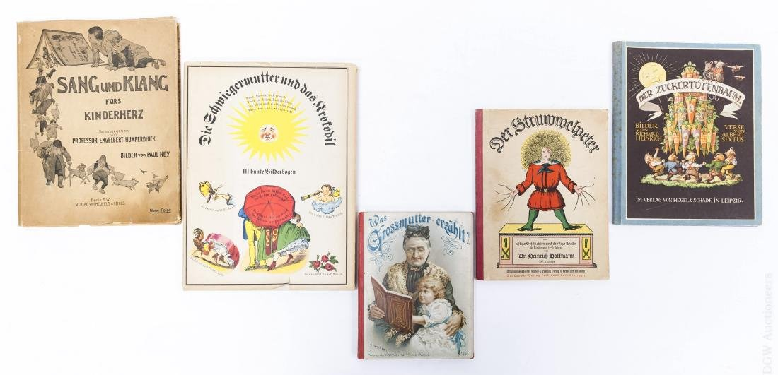 (5) Antiquarian Illustrated German Children's Books.