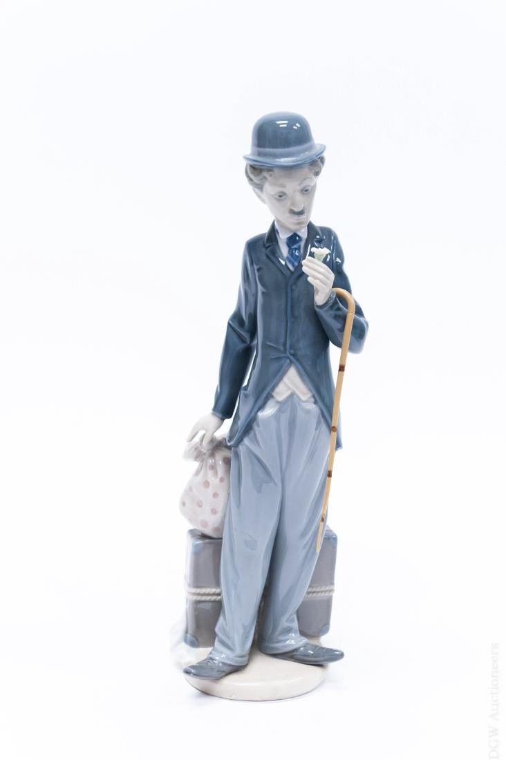 Lladro Porcelain Figure, Charlie the Tramp.
